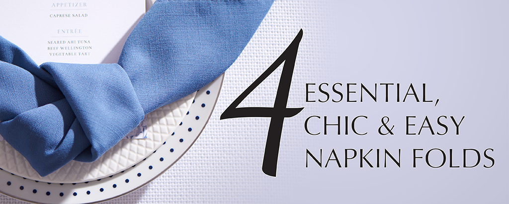 Four essential chic easy napkin folds party rental blog for 10 easy table napkin folding