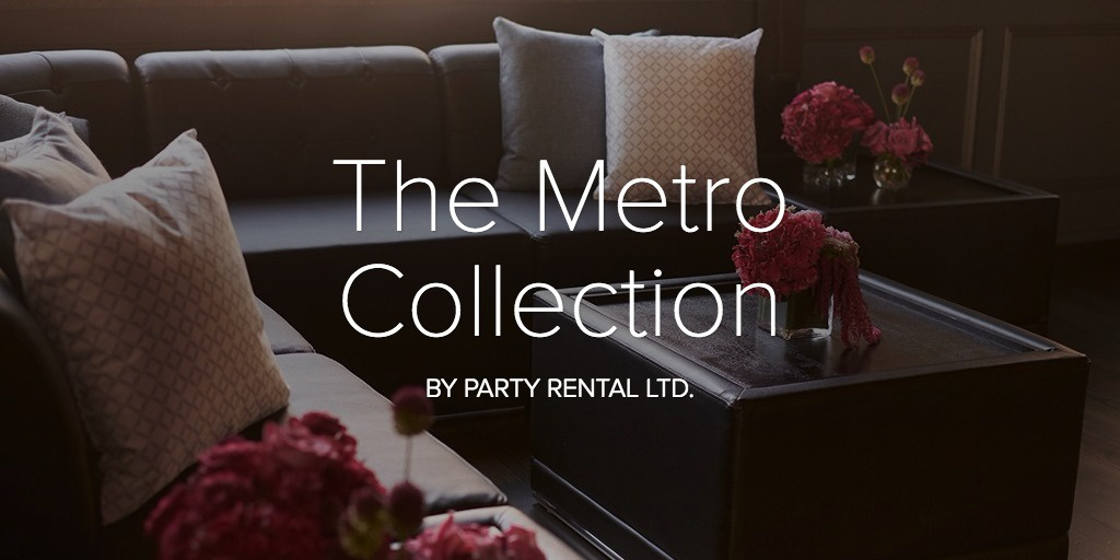 Spotlight on the Metro Collection - Lounge Furniture Rental Inspiration - Party Rental Ltd.