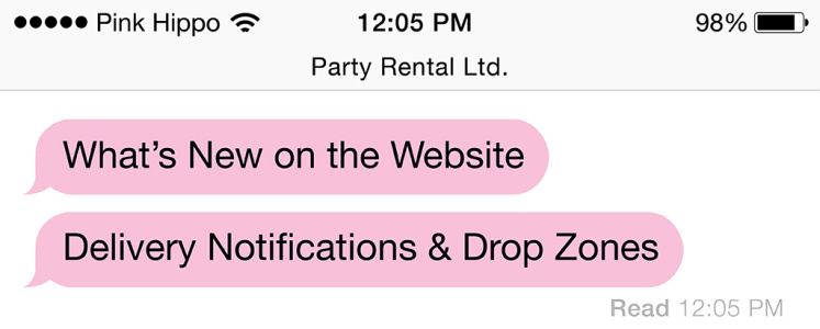 What's New on the Web: Delivery Notifications & Drop Zones
