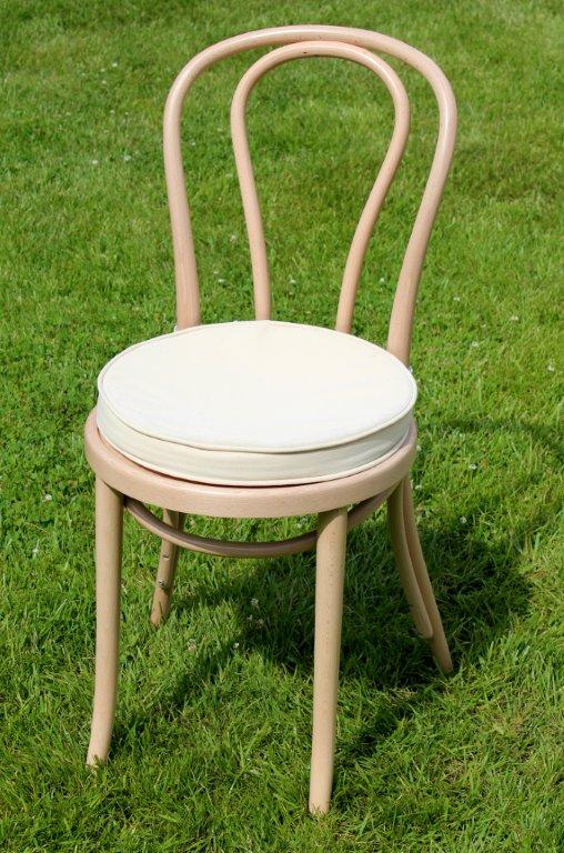 Our Birch Bentwood Chair Comes Complete With Cotton Cream Seat Cushion.