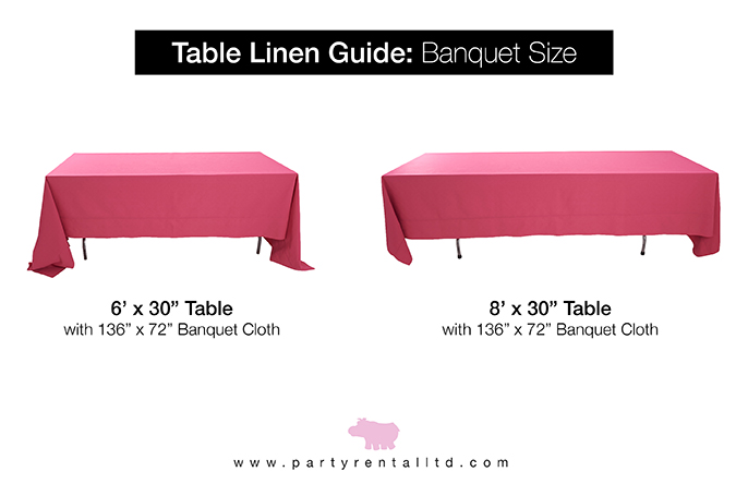 Let S Talk Linens The Ultimate Guide To Table Linen Sizes